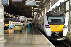 British Rail Class 700 Thameslink train at St Pancras High Level